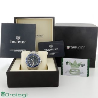 scatola con garanzia Tag Heuer Aquaracer ref. WAY101C BA0766