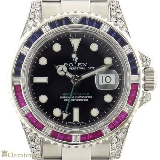 "Rolex GMT-Master II ""Ruby diamonds and sapphires"" ref. 116710LN"